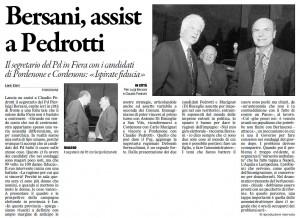 Il Gazzettino del 30 aprile 2011, ed. Pordenone, pagina II