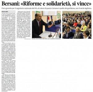 Messaggero Veneto del 30 aprile 2011, ed. Pordenone, pagina I
